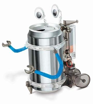 Robot con Lattina Riciclata - Tin Can Robot Fun Mechanics Kit - 2