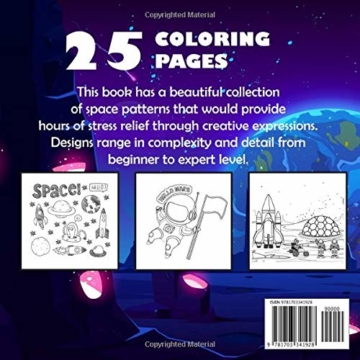 Space Coloring Book For Kids Ages 4-8: A Cute and Fun Coloring and Activity Workbook for Boys, Girls, Toddlers and Preschoolers, Gift for Kids Ages 2-4,  3-8, 4-8, 6-8  (US Version) - 2