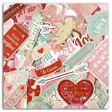 Toga fpd93ha la Follia–Set di 46Forme Tagliate Die-Cuts Carta Rosso/Beige/Rosa/Blu 8,5x 15,5x 1cm - 1
