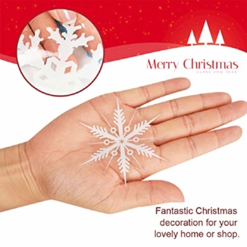 Tuopuda Natale Adesivi Finestre Natale Vetrofanie Addobbi Natale Adesivi Porta Murali Sticker Decorazione Babbo Natale Adesivo Rimovibile Statico Adesivi(Multicolore) - 4