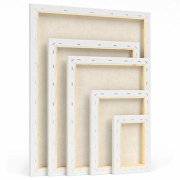 Arteza Tela per Dipingere Multi Pack, Tela Bianca 5x7