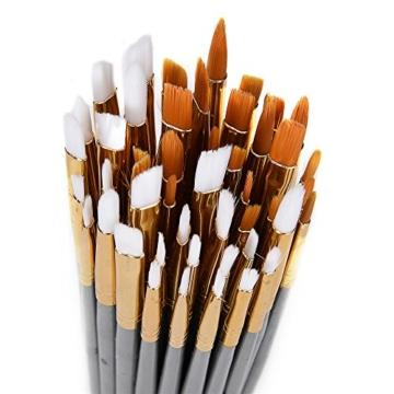 CONDA 50 Pezzi Set di Pennelli da Dipingere Pittura per Acrilico, Olio, Acquerelli - 4