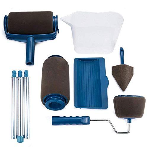 [2020 NEW] Senza Cuciture Rullo per Pittura Pro con Serbatoio Professionale Set 9pz Incluso un Rullo di Ricambio e Pennelli per Manico Rulli per Vernice antigoccia Trasforma la stanza in minuti - 1