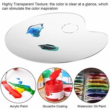 AIEX Acrilico Trasparente Tavolozza di Colori 10 x 6 Pollici Tavolozza Artistica per Arte Fai da Te Pittura Artigianale (2 Set) - 3