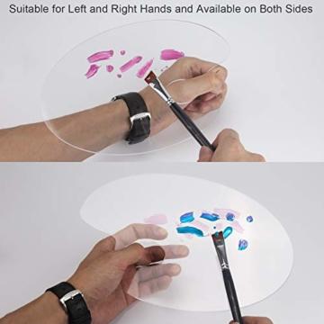 AIEX Acrilico Trasparente Tavolozza di Colori 10 x 6 Pollici Tavolozza Artistica per Arte Fai da Te Pittura Artigianale (2 Set) - 4
