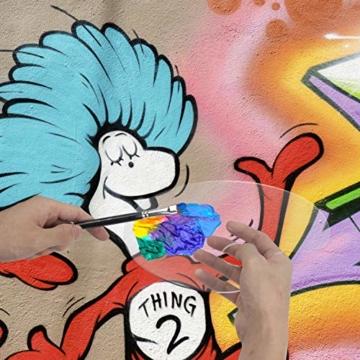 AIEX Acrilico Trasparente Tavolozza di Colori 10 x 6 Pollici Tavolozza Artistica per Arte Fai da Te Pittura Artigianale (2 Set) - 6
