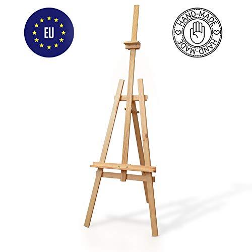 Amazinggirl cavalletto Pittura Legno - cavalletti per dipingere Bambini Disegno Pittore Matrimonio Piegare Altezza Regolabile faggio 150 cm - 1