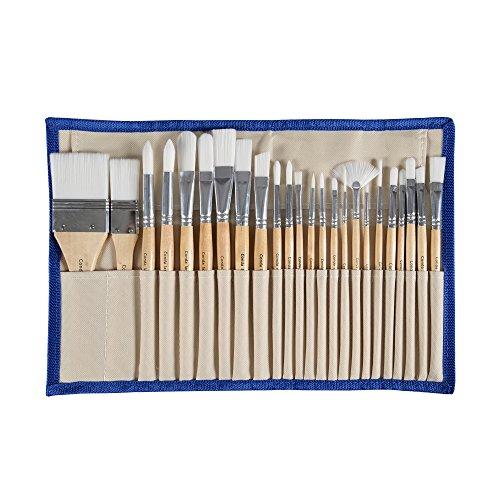 CONDA Pennelli Professionali per Colori ad Olio e Acrilici Set di Pennelli Spazzola per Dipingere 24 Pz Confezione in Nylon - 1