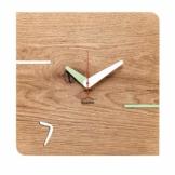 huamet. Orologio da Parete KONTUHR, Rovere - Vero Legno, Design Unico, Silenzioso e Senza ticchettio - Prodotto di qualità Made in Alto Adige - CH51-D-02 - 1