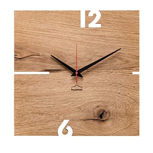 huamet. Orologio da Parete PUHR, Rovere, angolare - Vero Legno, Design Unico, Silenzioso e Senza ticchettio - Prodotto di qualità Made in Alto Adige - CH51-A-00 - 1