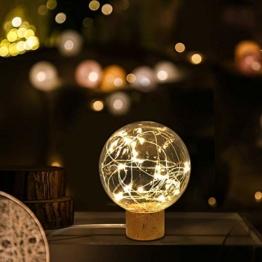 Lampada da Notte, TONWON Lampada USB led con Supporto in Legno di Faggio, lampada Ntturna per Casa, Eccellente Lampada da Notte per Decorazione di Camera - 1