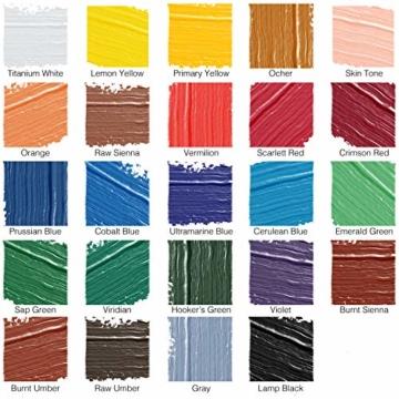 Zenacolor - Pittura a Tempera in Tubetti - Scatola da 24 Colori, Alta qualità, Qualsiasi Supporto per Principianti e Artisti - Tempo Libero (24 x 12 ml) - 3