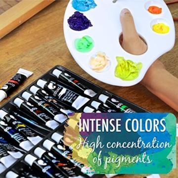 Zenacolor - Pittura a Tempera in Tubetti - Scatola da 24 Colori, Alta qualità, Qualsiasi Supporto per Principianti e Artisti - Tempo Libero (24 x 12 ml) - 5