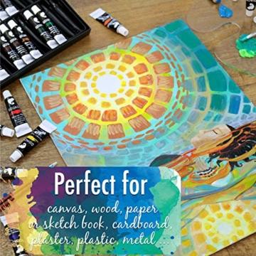 Zenacolor - Pittura a Tempera in Tubetti - Scatola da 24 Colori, Alta qualità, Qualsiasi Supporto per Principianti e Artisti - Tempo Libero (24 x 12 ml) - 6