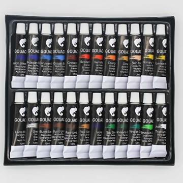 Zenacolor - Pittura a Tempera in Tubetti - Scatola da 24 Colori, Alta qualità, Qualsiasi Supporto per Principianti e Artisti - Tempo Libero (24 x 12 ml) - 9