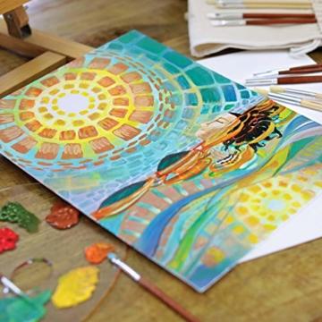 Zenacolor - Set di 10 Tele Cartonate per Dipingere 30 x 40 cm - Tutti i Tipi di Pittura su Tela - 100% Cotone Senza Acidi. - 5
