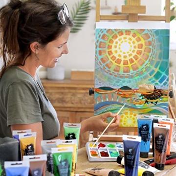 Zenacolor - Set di 10 Tele Cartonate per Dipingere 30 x 40 cm - Tutti i Tipi di Pittura su Tela - 100% Cotone Senza Acidi. - 6