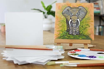 Zenacolor - Set di 10 Tele Cartonate per Dipingere 30 x 40 cm - Tutti i Tipi di Pittura su Tela - 100% Cotone Senza Acidi. - 7