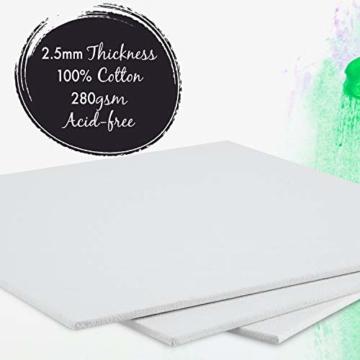 Zenacolor - Set di 10 Tele Cartonate per Dipingere 30 x 40 cm - Tutti i Tipi di Pittura su Tela - 100% Cotone Senza Acidi. - 4