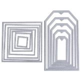 2 Set 12 pz Fustelle Stencil Rettangolo Cutting Dies per DIY Scrapbooking Album di Carta Biglietti per Goffratura - 1