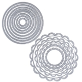 2 Set 13pz Fustelle Stencil Cerchio Cutting Dies per DIY Scrapbooking Album di Carta del Mestiere Biglietti per Goffratura - 1