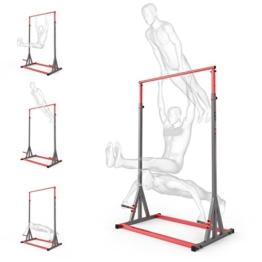 Barra per trazioni 280kg per rinforzare la schiena, allenamento sportivo, attrezzo per esercizi sport, nuovo, barra alta per trazioni - 1