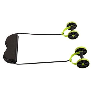 Beautyrain, 1 postazione allungabile per l'allenamento degli addominali, rullo con due rotelle, ideale per stretching e allenamenti di resistenza, attrezzo sportivo per dimagrire la pancia, 1pc - 2