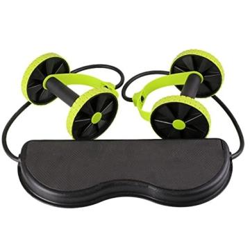 Beautyrain, 1 postazione allungabile per l'allenamento degli addominali, rullo con due rotelle, ideale per stretching e allenamenti di resistenza, attrezzo sportivo per dimagrire la pancia, 1pc - 3