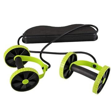 Beautyrain, 1 postazione allungabile per l'allenamento degli addominali, rullo con due rotelle, ideale per stretching e allenamenti di resistenza, attrezzo sportivo per dimagrire la pancia, 1pc - 4