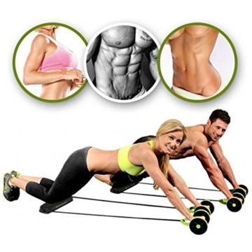 Beautyrain, 1 postazione allungabile per l'allenamento degli addominali, rullo con due rotelle, ideale per stretching e allenamenti di resistenza, attrezzo sportivo per dimagrire la pancia, 1pc - 1