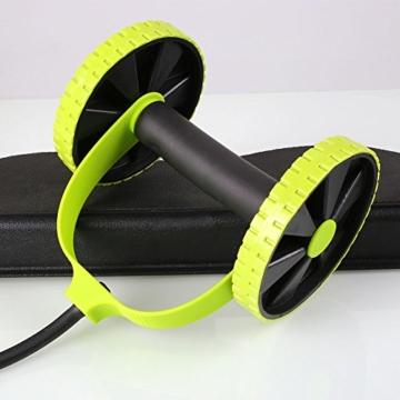 Beautyrain, 1 postazione allungabile per l'allenamento degli addominali, rullo con due rotelle, ideale per stretching e allenamenti di resistenza, attrezzo sportivo per dimagrire la pancia, 1pc - 5