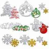Boao 8 Pezzi Set da Taglio per Natale 3D Stencil di Natale in Metallo Pupazzo di Neve Fiocco di Neve Albero Cervo Dies Cut per Natale Fai-da-Te, Scrapbooking, Fabbricazione di Carte - 1