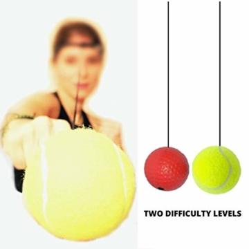 Boxing Reflex Ball, Palla da Pugilato e da Combattimento per Migliorare velocità, Fitness, Reazione e coordinazione Occhio-Mano, Attrezzature da Boxe per Allenamento Bambini e Adulti - 2