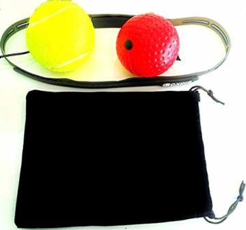 Boxing Reflex Ball, Palla da Pugilato e da Combattimento per Migliorare velocità, Fitness, Reazione e coordinazione Occhio-Mano, Attrezzature da Boxe per Allenamento Bambini e Adulti - 3