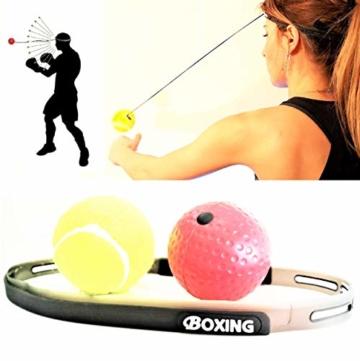 Boxing Reflex Ball, Palla da Pugilato e da Combattimento per Migliorare velocità, Fitness, Reazione e coordinazione Occhio-Mano, Attrezzature da Boxe per Allenamento Bambini e Adulti - 1