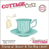 CottageCutz Made Easy-Tazza, piattino e teiera, Die Cuts with Foam - 1