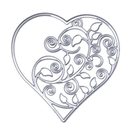 Demiawaking, fustella per stencil, a forma di cuore, per fai da te, scrapbooking, biglietti, decorazioni 01 - 1