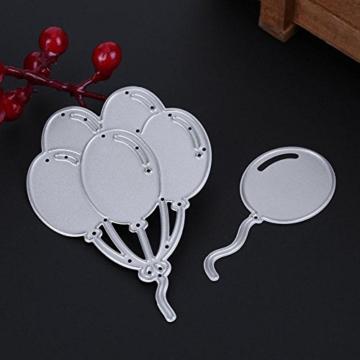Demiawaking Palloncino Fustella per DIY Scrapbooking Album Foto Segnalibro Taglio del Mestiere Embossing Manuale Stencil Stampo a Goffratura (04) - 2