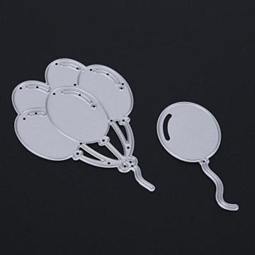 Demiawaking Palloncino Fustella per DIY Scrapbooking Album Foto Segnalibro Taglio del Mestiere Embossing Manuale Stencil Stampo a Goffratura (04) - 5
