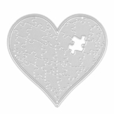 Demiawaking Puzzle di Cuore Fustelle per Scrapbooking Stencil Cutting Dies DIY Scrapbooking Album Foto Segnalibro Goffratura Mestiere per Biglietti di Auguri - 1