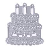 Demiawaking Torta di Compleanno Stencil per DIY Scrapbooking Album Segnalibro Taglio di Modello Goffratura Embossing Artigianale Carta Stampi (09) - 1