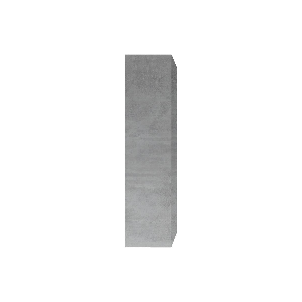 Elemento murale TV verticale finitura cemento ETERNEL