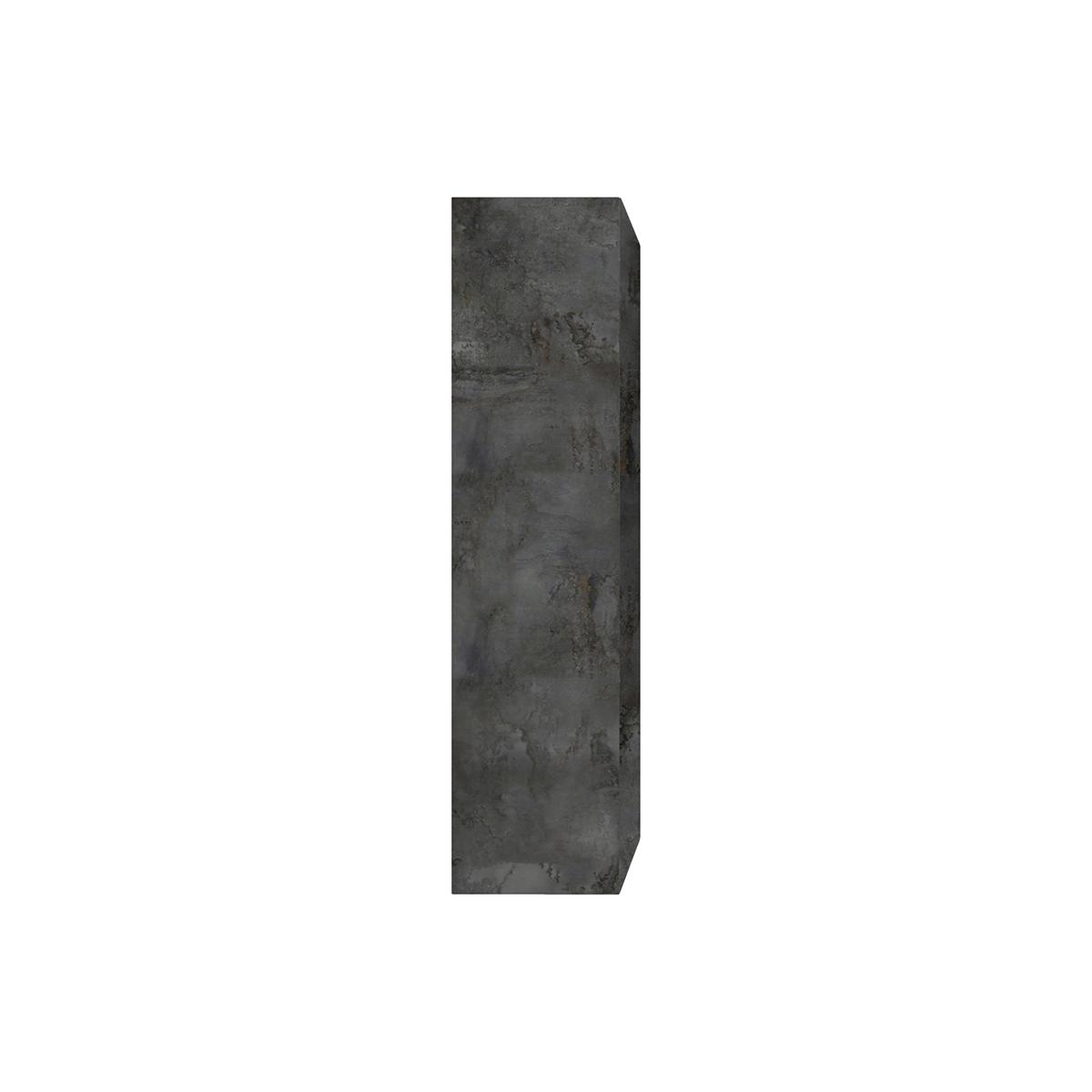 Elemento murale TV verticale finitura metallo ETERNEL