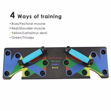 HIHEY Junierain 9 in 1 Push Up Rack Board System Fitness Workout Training Gym Esercizio Rack per Home Fitness Training - 4