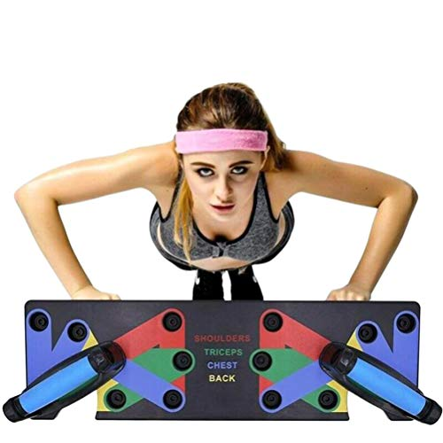 HIHEY Junierain 9 in 1 Push Up Rack Board System Fitness Workout Training Gym Esercizio Rack per Home Fitness Training - 1