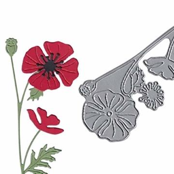 KimcHisxxv - Fustelle in metallo a forma di fiore, per fai da te, scrapbooking, biglietti, goffratura, stencil – argento - 2