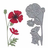 KimcHisxxv - Fustelle in metallo a forma di fiore, per fai da te, scrapbooking, biglietti, goffratura, stencil – argento - 1