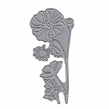 KimcHisxxv - Fustelle in metallo a forma di fiore, per fai da te, scrapbooking, biglietti, goffratura, stencil – argento - 4