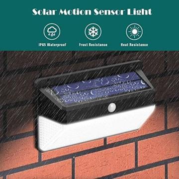 Luce Solare LED Esterno, Trswyop [Risparmio Energetico Super-2 Pezzi] 118LED Lampada Solare con Sensore di Movimento 2200mAh Luci Solari da Parete Impermeabile Solare LED con 3 Modalità - 5