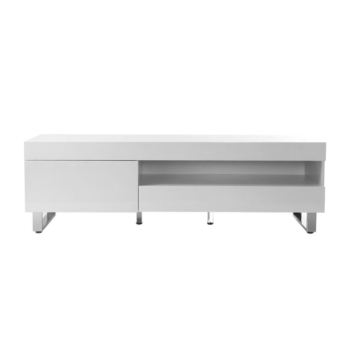 Mobile porta TV design laccato bianco MELHA